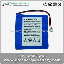 rechargeable li-on li ion battery pack making 2s2p 7.4v 4400mah