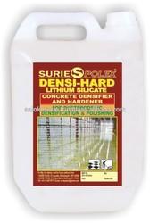 Concrete densifier hardener