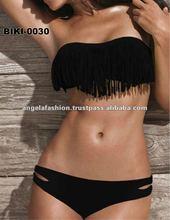 ANGELA Swimwear BIKINI-0030 Sexy Fringe Bandeau Bikini/Buy Swimwear Online/Designer Swimsuits