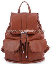 Hot sale PU leather stylish woman backpack