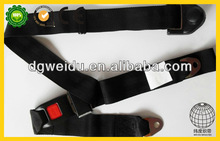 simple 3 point seat belt with webbing