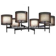 black tailand style silver gauze hotel big pendant lighting ,chandelier