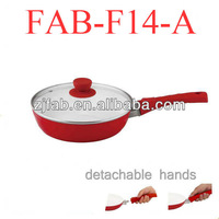 Aluminum White Ceramic Or Non-stick Frying Pan With Removed Handle