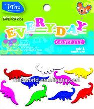 MTLP-EVD010 dinosaur shape confetti