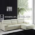 Sofá de couro moderno, sofá em l, conjunto de sofá de preço ocs-613