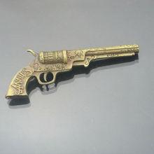 Customized metal gun gifts, antique gold gun model, small gun art