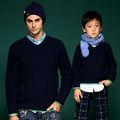 Trendy dessins chandail pour les enfants et les hommes, la famille vêtements. ensemble.( t406)
