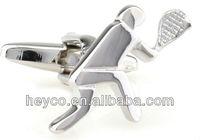 HEYCO silver sport novelty plain metal blank tennis bulk japanese sterling bezel cufflinks