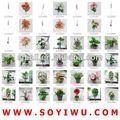 ผ้าไหมสีม่วงเข้มดอกกุหลาบดอกไม้ประดิษฐ์สำหรับการค้าส่ง