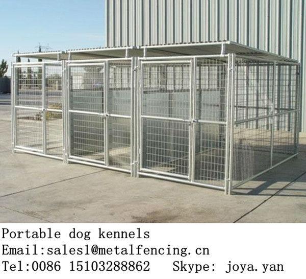 البيع بالتجزئة بالجملة الصلب المجلفن الملحومة أقفاص تربية الكلاب كلب