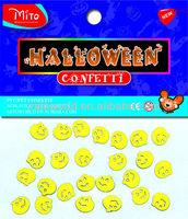 Halloween craft little golden pumpkins confetti