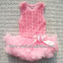 Hot style rosette sundress baby birthday dress,baby clothing