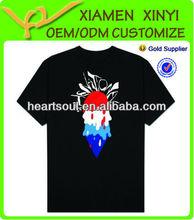 Top Fashion Logo Printed Custom Black T Shirt