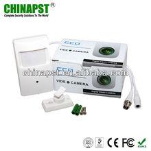 White 1/3 CMOS 420TVL Color PIR Hidden Pinhole Surveillance Equipment PST-HC101CL