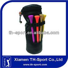 PU Round Shape Golf Ball/Tee Holder With Clip