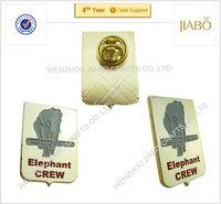 high quality custom design 24k gold plating animal logo paint on customized metal pin badges