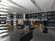 Funroad MDF baking black paint shoes store fixtures for shoes retail shop