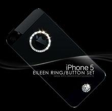 Swarovski crystals BUTTON set for iphone 5C, 4(S) & samsung galuxy S3, S4, home button set