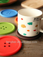 Round Silicone Coasters Button Coasters Cup Mat