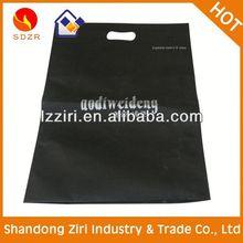 Purple customized cheap d cut nonwoven bags shopping bag