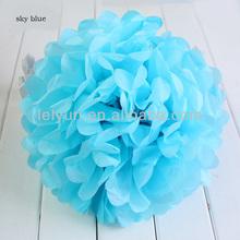 New Colored lanterns sky blue paper flower ball Wedding celebration lanterns