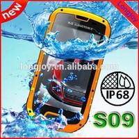 W63 S09 IP68 MTK6589 Quad Core Andriod 4.2 3G Walkie Talkie Rugged Smartphone 1gb Ram 4gb Rom Waterproof Dust-proof Shock-proof