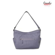 2015 handbag Comely purse newest pictures lady fashion handbag grey suede handbag