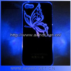 Shenzhen A&T fashionable sense flash light led hard case for apple iphone 5