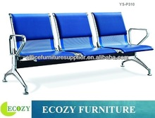 Polyurethane foam airport seating chair, iron airport chair with padded seat