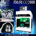 3D máquina de cristal da foto 3D Laser interno de cristal da foto para o presente máquina de gravura máquina de presente HSGP-2KC
