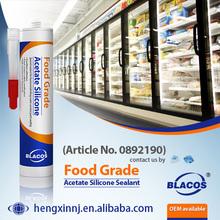 SGS Certificated Non Yellowing 100% Non-Toxic Food Grade Silicone Sealant