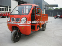 semi closed driving room three wheel motorcycle/cargo box tricycle