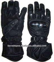 Top quality genuine cow hide leather Auto motorbike racing gloves ,, 2015