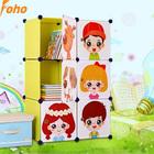 Bedroom wardrobes kids storage closet with cartoon door(FH-AL0023-6)