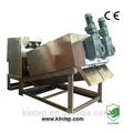 tornillo de acero inoxidable de prensa fltrado para aguas residuales de la planta de tratamiento