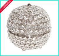 Crystal Jewelry Box, Round Jewelry Box