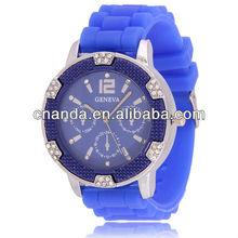 2015 New design bracelet watch for lovers, diamond decoration lover watch