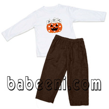 Thanksgiving baby boyss applique set
