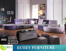 Large/big size sofa, sofa set designs purple sectional sofa