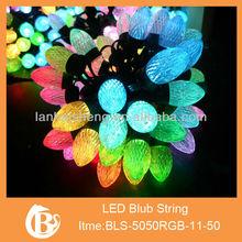 Green Waterproof String Light/Christmas Light String 50 LED bulbs