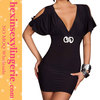 2013 fashion open front cheap women black sexy club dress
