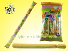 2015HOT Long Hamburger Shape Marshmallow Candy/Cotton Candy