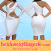 2014 new one shoulder cheap knee length bandage dress