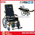 de alta reclinling respaldo reclinable silla de ruedas
