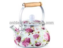 Chinese enamel tea kettle 2.2L