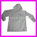 Pvc( 0.15mm) adultos larga con capucha impermeable trajes de europa