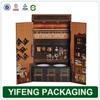 custom design individual empty cardboard red luxury paper wine box wholesale