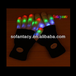 colour changing led glove light,led light up glove