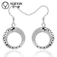 Fashion Leopard Design Silver Plated Hoop Hot New Jewelry Earring