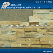 China beautiful yellow slate wall tile